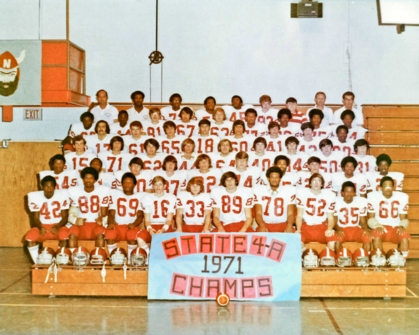 The North Forsyth Senior High School Vikings Football Team, State 4A Champions in 1971